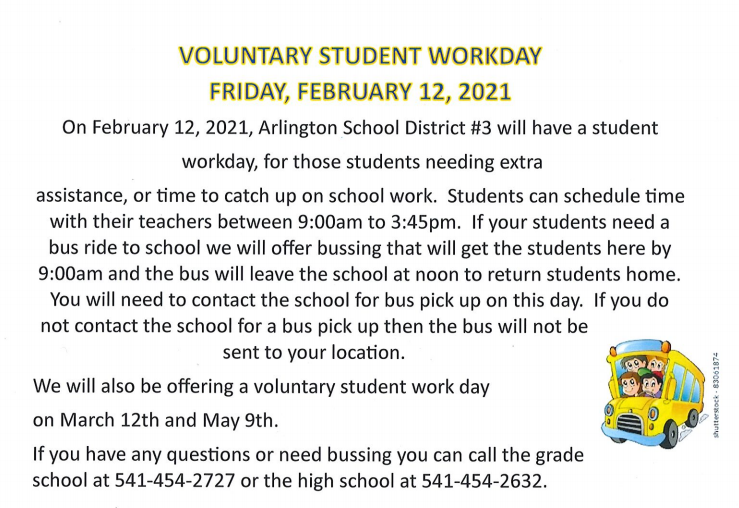 Voluntary Student Workday
