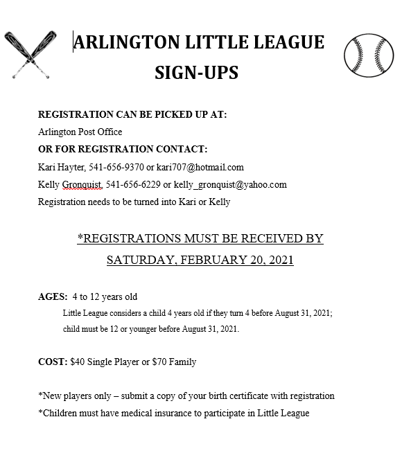 Little League signups