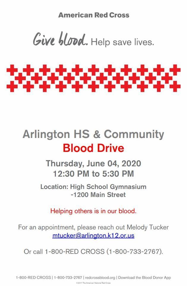 June 4 blood drive poster